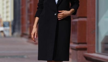 Palton stofa Akira negru
