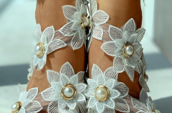 Sandale Florale Yesemia Albe
