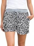 Pantaloni Print Leopard Delwyn Albi