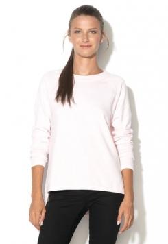Pulover melange roz cu alb din jerseu Wrath
