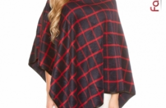Poncho Square Red