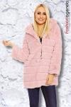 Jacheta din Blana Moroder Pink