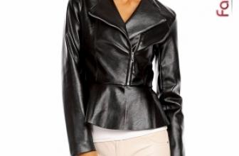 Jacheta din Piele Amelie Neagra