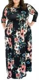 Rochie Maxi Imprimeu Floral Jenette Multicolorata