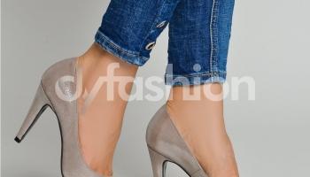 Pantofi Nude cu Varf si Toc Ascutite, colectia 2018