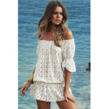 Rochie Din Dantela White Summer