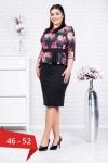 Rochie neagra eleganta cu flori rosii Noelia