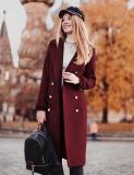 Palton Roxanne Visiniu Bordo