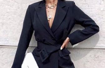 Blazer Elegant Coline Negru