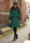 Palton Dama Broderie Dantela & Blanita Masha Verde